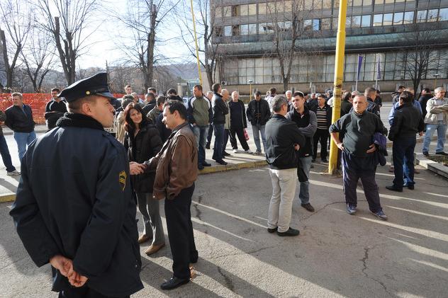 Protesti radnika Dite i Livnice čelika Tuzla
